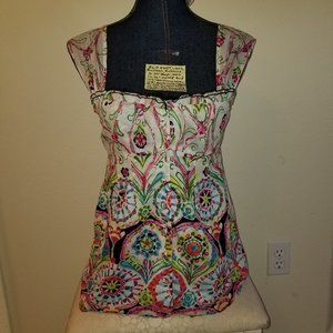 619 NWOT Nanette Lepore M Lined White Multi Color